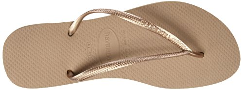 Havaianas Slim, Chanclas Mujer Beige (Rose Gold)