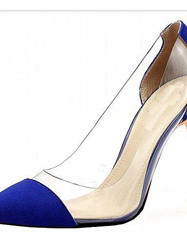 Zapatos Fiesta Purple boda Vestido Blue Cn40 Oficina tacones Uk1 Eu32 Eu39 Y Cn31 Uk6 us2 5 Stiletto us8 tacones Casual Trabajo Patentado tac¨®n 5 Noche De Microfibra Mujer 5 Zq cuero P0wq4dP
