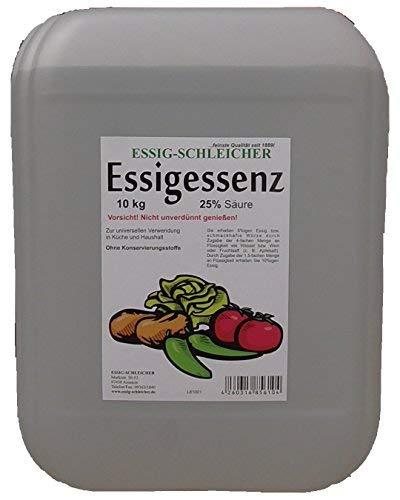 10,15kg Kanister MIT KANISTER-SCHL/ÜSSEL ZUM SICHEREN /ÖFFNEN Essig-Essenz 25/% S/äure