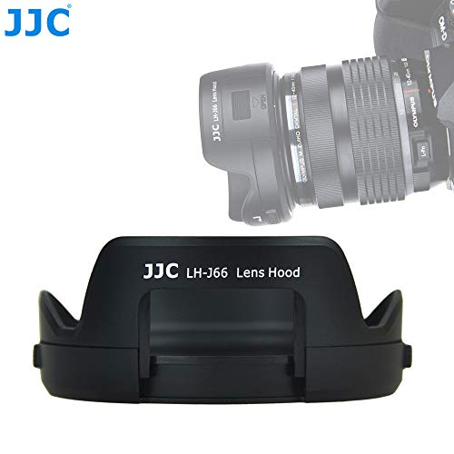 JJC LH-J66 Reversible Dedicated Bayonet Lens Hood for Olympus M. Zuiko Digital ED 12-40mm f/2.8 PRO Lens, Replacement of Olympus LH-66 Lens Hood