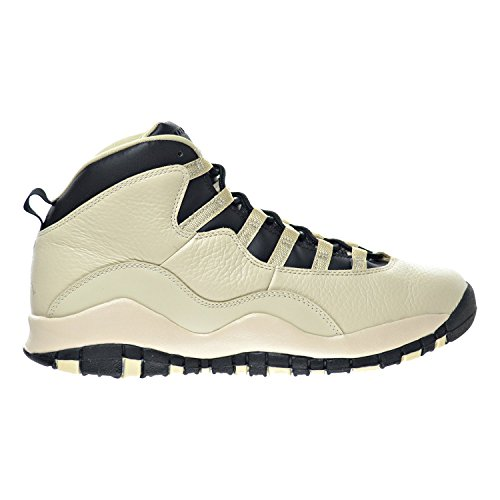 Air Jordan 10 Retro Prem GG Big Kid's Shoes Pearl White/Black 832645-207 (5 M US) by Jordan