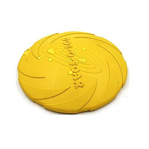 Dumanfs! Dog Flying Disc Indestructible Dog Frisbee Dog Chew Toy Dog Toys Pet Frisbee for Puppies, Small, Medium and Large Dogs (yellow)