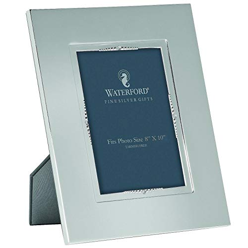 (LISMORE BEAD patterned silver 8x10 frame by Waterford - 8x10)