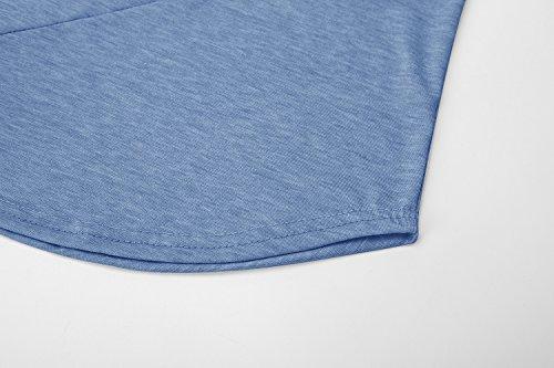 Casual Ehpow Courtes Top shirt Tees Pure Bleu Homme T À Couleur Manches 2 BrqBZHwcS