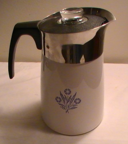 Corning Cornflower Blue 6-cup Coffee Pot