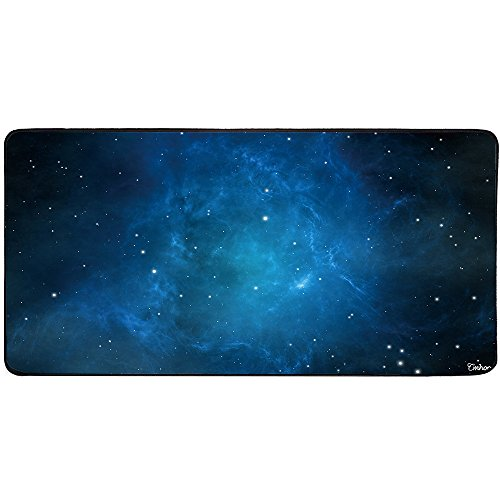 Cmhoo Large Mouse Pad Gaming XXL & Desk Keyboard Mat Size (35.4x15.7x0.1IN, 90x40 sky blue)