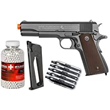 colt 1911 co2 metal blowback airsoft pistol, kit airsoft gun(Airsoft Gun)