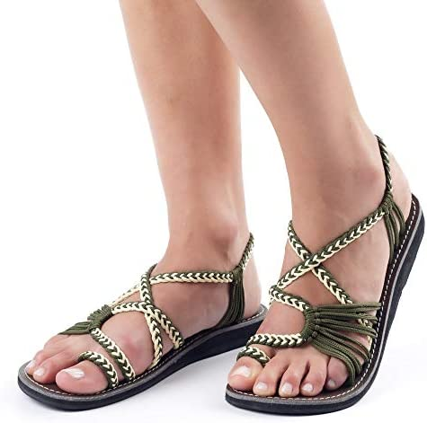 Plaka Palm Leaf Flat Summer Sandals for Women | Perfect for
