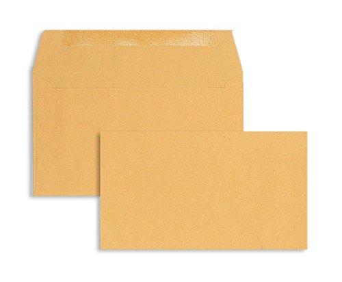 Blanke Briefhüllen - - - 1000 Briefhüllen im Format 89 x 152 mm in Braun B00FPO1Z7I | Moderne Muster  | Tragen-wider  | Billiger als der Preis  818d21