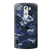 R2959 Navy Blue Camo Camouflage Case Cover For LG G3
