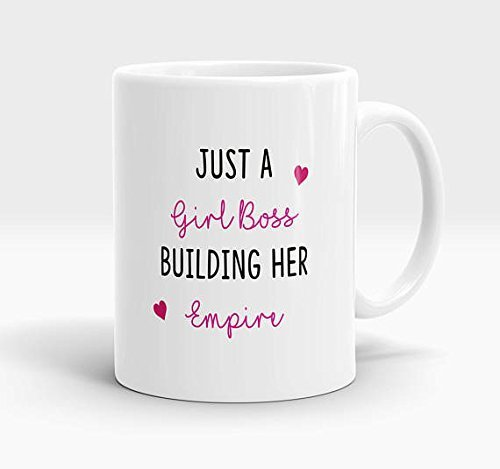 Girl boss building her mug, you're the boss mug, fun adult boss mug, colleague gift, business gift, support small business, boss gift, small business, 11oz 15oz