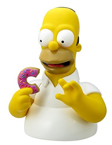 Simpsons The Homer with Donut Bust Bank Action Figure by Simpsons