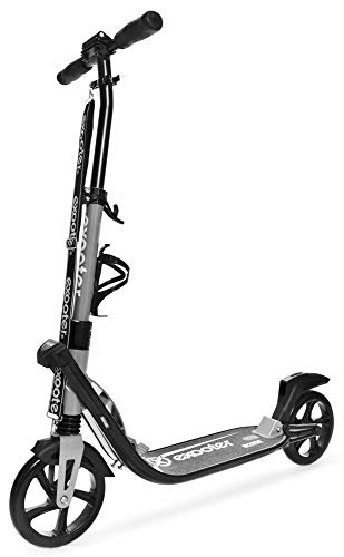 EXOOTER M2050CB 9XL Adult Cruiser Kick Scooter with Dual Suspension Shocks, Charcoal