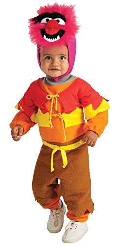 [UHC Baby's Sesame Street Animal Ez-On Romper Infant Halloween Costume, 0-6M] (Ultimate Party Animal Halloween Costume)