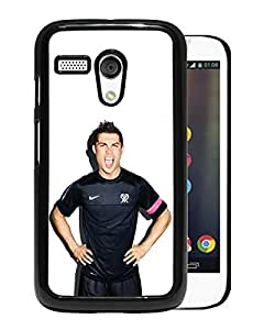 Beautiful Designed Cover Case For Motorola Moto G With Cristiano Ronaldo Real Madrid CF Football Black Phone Case