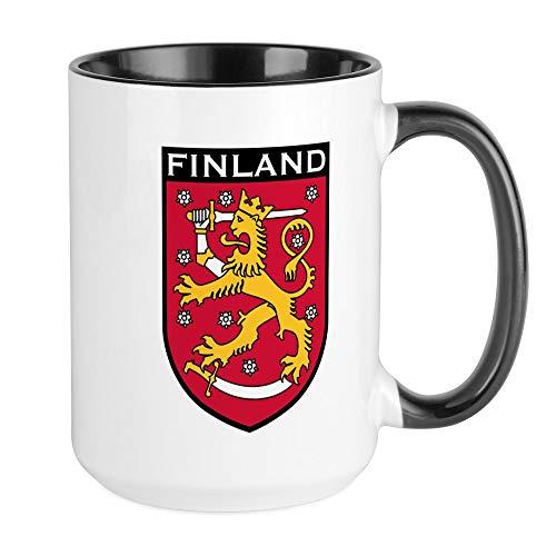 (CafePress Finland Coat Of Arms Large Mug Coffee Mug, Large 15 oz. White Coffee Cup)