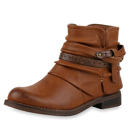 napoli-fashion - botas estilo motero Mujer marrón