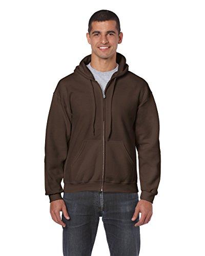 Gildan 18600 – Classic Fit Adult Full Zip Hooded Sweatshirt Heavy Blend – First Quality – Dark Chocolate – 5X-Large