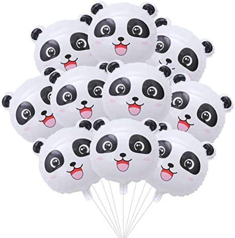 NUOBESTY パーティー動物バルーン、誕生日パーティーの装飾のための10個18インチの漫画パンダヘッドバルーン