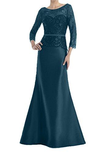 Blau Royal Blau Partykleider Spitze Festlichkleider Charmant Damen Dunkel Brautmutterkleider Abendkleider Meerjungfrau Lang AqUHSHPw