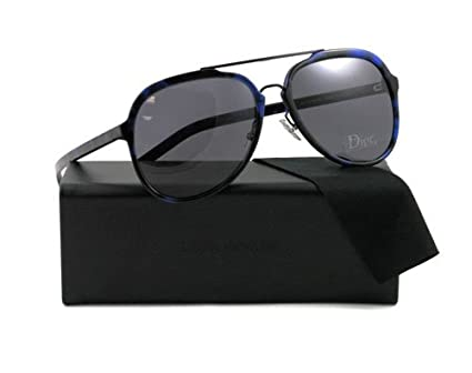 b5b36792111 Dior Homme Men s Blacktie122s Blue Tortoise Pattern Frame Dark Grey ...