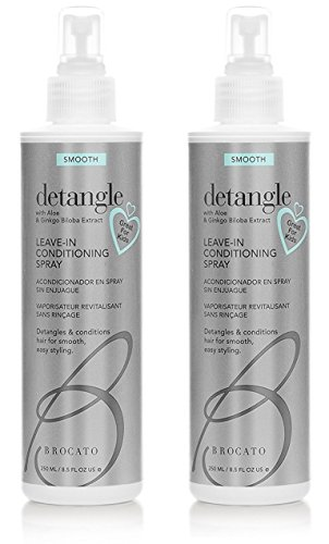 Brocato Detangle Leave-In Conditioning Spray, 8.5 oz Set of 2