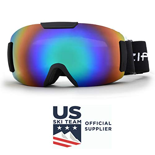 5e57e7a97e6a Zipline Ski Snowboard Snowmobile Goggles Podium ST 2018-19 - No Fog  Interchangeable Lenses US Ski Team Official Goggle (Gray Lens Tropical  Green Finish)