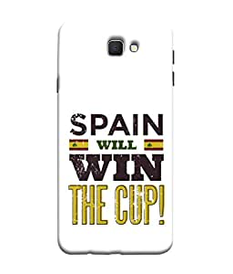 ColorKing Football Spain 04 White shell case cover for Samsung J5 Prime