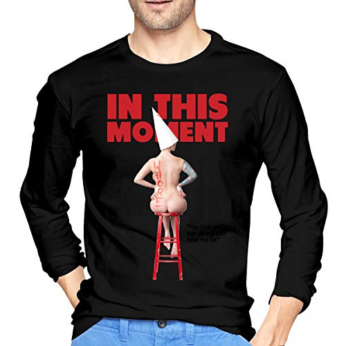 GabrielR Men's in This Moment Maria Brink Whore Long Sleeve Tshirts Black XL -