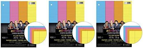 Astrobrights Füllpapier, 20,3 x 27,4 cm, 9 kg, 100 Blatt Тhree Pаck