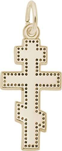 Rembrandt Greek Cross Charm - Metal - Gold-Plated Sterling Silver