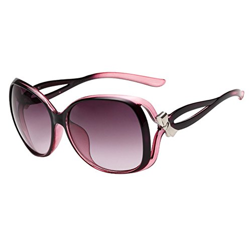 HUAYI Unisex UV400 Outdoor Retro Bowknot Large Frame Sunshade - Sunglasses Sunshades