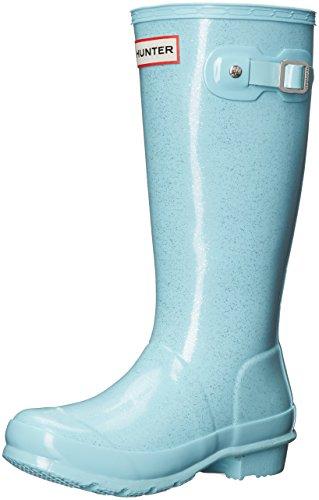 Hunter Girls Original Kids Glitter Mid-Calf Rubber Rain Boot Pale Mint