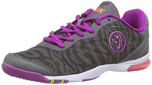 Zumba Women's Impact Pulse Dance Shoe, Graphite Camo, 5 M US