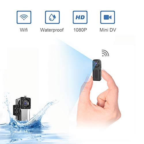 (Waterproof Spy Camera Wireless Hidden,ZZCP WiFi Full HD 1080P Portable Mini Nanny Cam with Night Vision and Motion Detection, Perfect Covert Small Security Camera for Indoor and Outdoor )