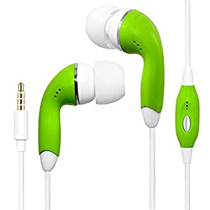 Green Handsfree Earphone HeadPhones HeadSet With Mic For LG Splendor US730 Lucid VS840