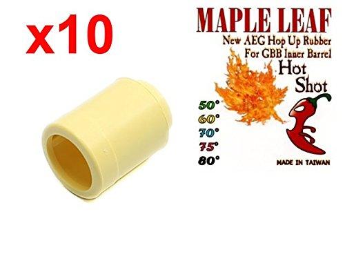 MLEmart Maple Leaf Hop Up Rubber Bucking Hot Shot / Hybrid (Delta, 60 deg, Lot of 10) by MLEmart