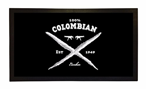 Rubber Bar Mat Bar Runner 100% Colombian Pablo Escobar Sp...