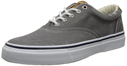 Sperry Men's Striper CVO Salt Washed Twill Sneaker,Grey,10 M US