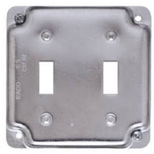 Hubbell Raco 803C 2 Toggles 4-Inch Square Exposed Work Cover