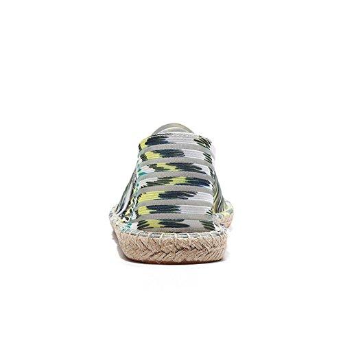 HUAN Canvas Summer Top 2018 Low Lovers Shoes New Breathable A Espadrilles B1prqBxw6