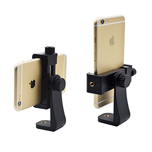 Universal Smartphone Tripod Adapter, Aoonar Cell Phone Holder Mount Adapter for iPhone/Samsung Galaxy/Google Nexus, Use on 1/4-20 Tripod, Monopod, Selfie Stick
