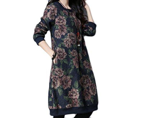 Pattern5 Print Women Pullover Loose Midi Coolred Dress Tribal Velvet Oversized wZqnazH