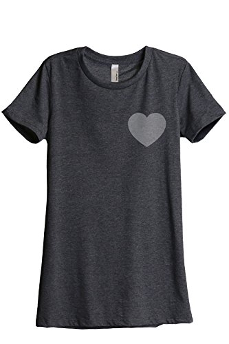 - Thread Tank Classic Heart Love Symbol Women's Fashion Relaxed T-Shirt Tee Charcoal Grey 2X-Large