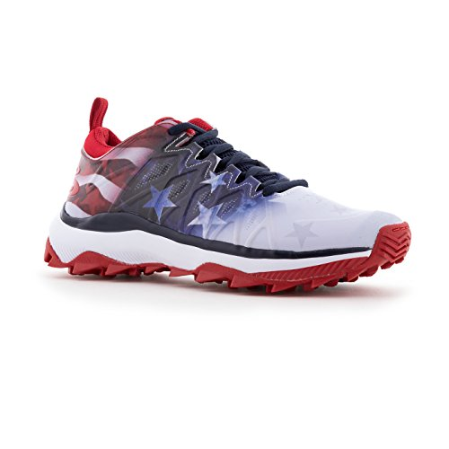 Boombah Womens Squadron Turf Shoes - 14 Kleurenopties - Meerdere Maten Royal / Rood / Wit