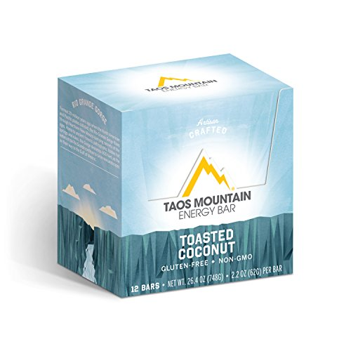 Taos Mountain Energy Bar - Toasted Coconut (2.2 Ounce, 12 Count)
