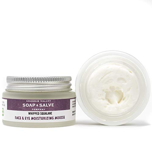 Natural Face & Eye Moisturizer, Whipped Squalane, Chagrin Valley Soap & Salve