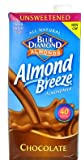 Blue Diamond Almond Breeze Unsweetened Almond Milk, Chocolate 32 fl oz (Pack of 1)