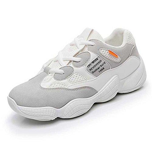 Zapatos de Mujer Zapatos Casuales de la versión Coreana de la Nueva versión, Zapatos de Marea Gruesos de Las señoras, Zapatillas de Deporte Casuales de los pies Ligeros con Cordones Un
