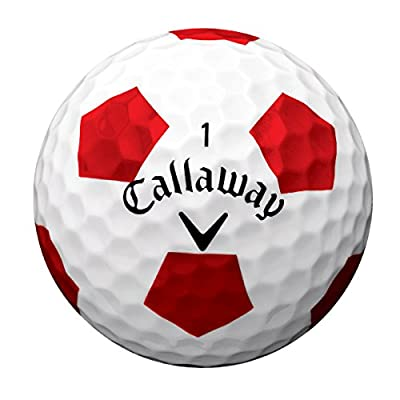 Callaway New 2017 Chrome Soft X Golf Balls - Made in the USA (12 Pack) - Choose Your Color (Truvis - Red on White)